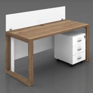 Oak Workstation Table
