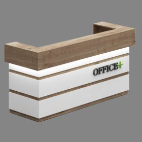Oak Reception Table,Custom Made Office Furniture Abu Dhabi, Office Furniture Manufacturer Abu Dhabi