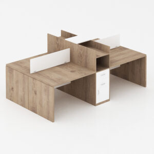 Quad Workstation Table